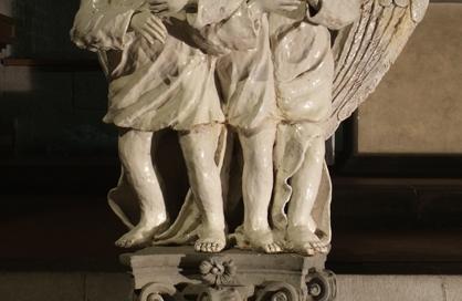 S0129 - I Tre Angeli - 2005 - Terracotta invetriata cm 148x95x60