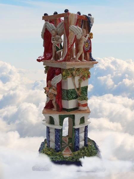 S0409 La casa degli angeli - 2014 - cm 68x32x32