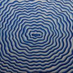 Q0323 Marco Bonechi - L'acqua blu 2011 - Olio su tela - cm 100x120