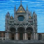 Q0328 Marco Bonechi - Duomo di Siena 2011 - Olio su tela - cm 100x100