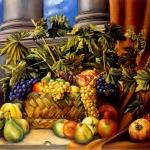 Q0358 - Marco Bonechi -Cesto con frutta 1992 60X80