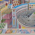 Q0369d - Marco Bonechi - Citta - 2014 -100x100