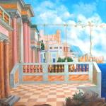 Q037 - Città sul mare- 1997 - 120x100