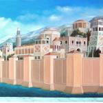 Q046 - Città sul Mare  - 60x150