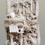S0259 - Marco Bonechi - Natività 2011 - terracotta  invetriata - cm 105x55x35ca