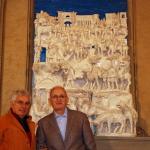 S0311c- Marco Bonechi - Adorazione dei Magi 2012- terracotta  invetriata cm 180x140x48
